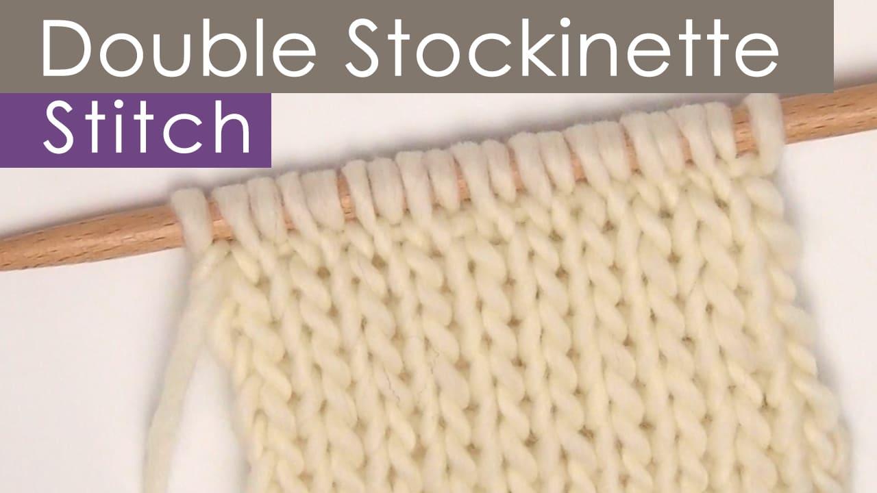 Double Stockinette Knit Stitch Pattern by Studio Knit