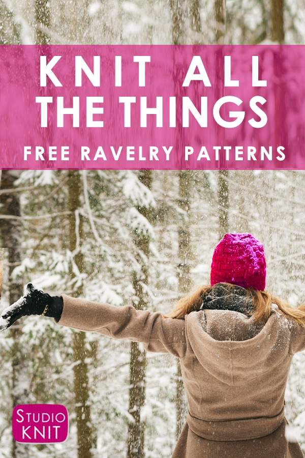 Find free knitting patterns on Ravelry with Studio Knit