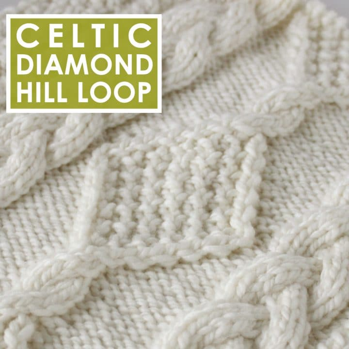 Diamond Hill Loop Celtic Cable Knitting Pattern and Video Tutorial