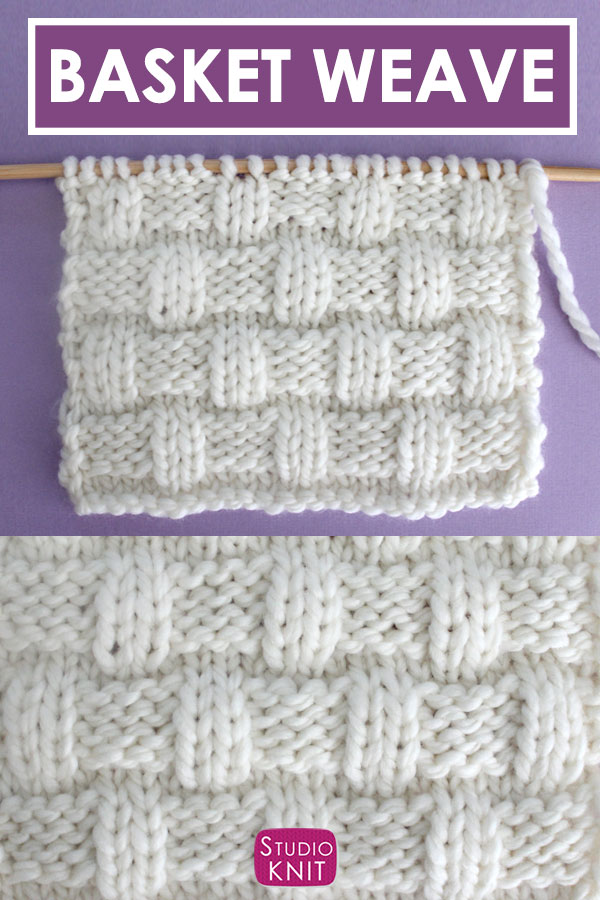 Basket Weave Stitch Pattern