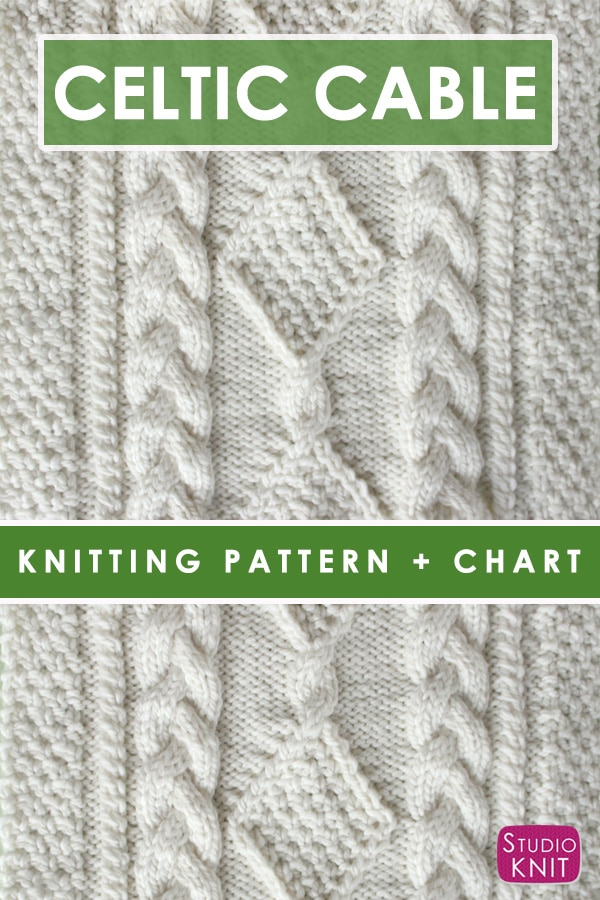 Diamond Hill Loop Celtic Cable with free knitting pattern and chart by Studio Knit