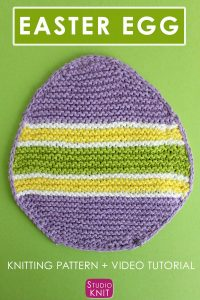 Simple Easter Egg Dishcloth Pattern and Chart by Studio Knit