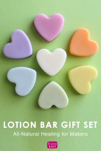 Lotion Bar Gift Set created especially for makers. Enjoy the ease of natural skin care by warming solid bars between your hands to soften and deeply moisturize.