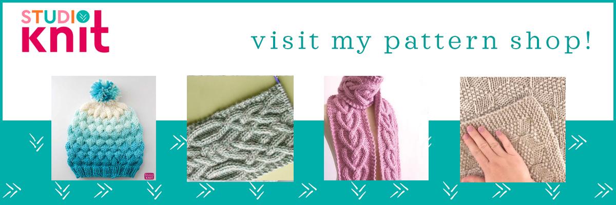 Studio Knit visit my pattern shop!