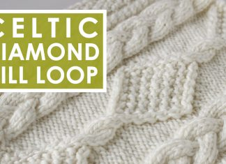 Diamond Hill Loop Celtic Cable Knitting Pattern by Studio Knit