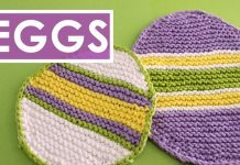 Easy Easter Egg Dishcloth Pattern by Studio Knit