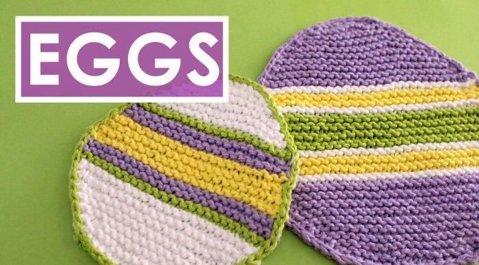 Easy Easter Egg Dishcloth Pattern by Studio Knit