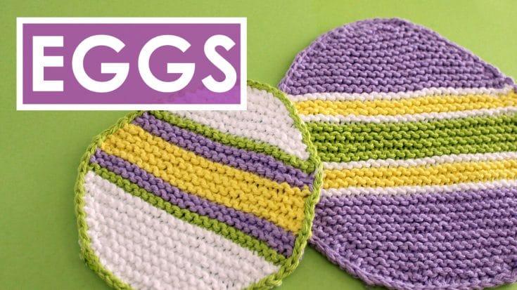 Easter Egg Dishcloth (Knitting Pattern)