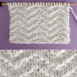 Chevron Seed Knit Stitch Pattern