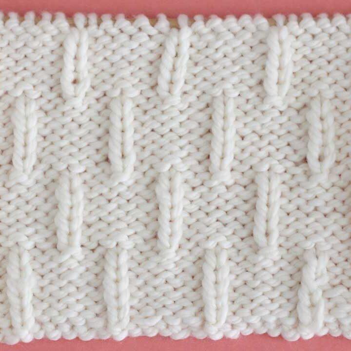 Caterpillar Knit Stitch Pattern