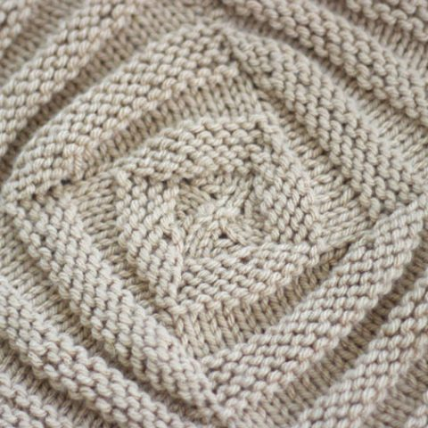 Swirly Square Knit Stitch Pattern