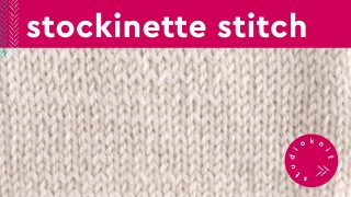 White Swatch of Stockinette Stitch in white yarn
