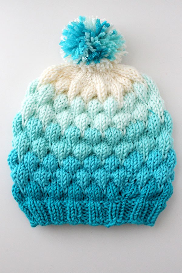 Knitted Bubble Beanie Hat by Studio Knit