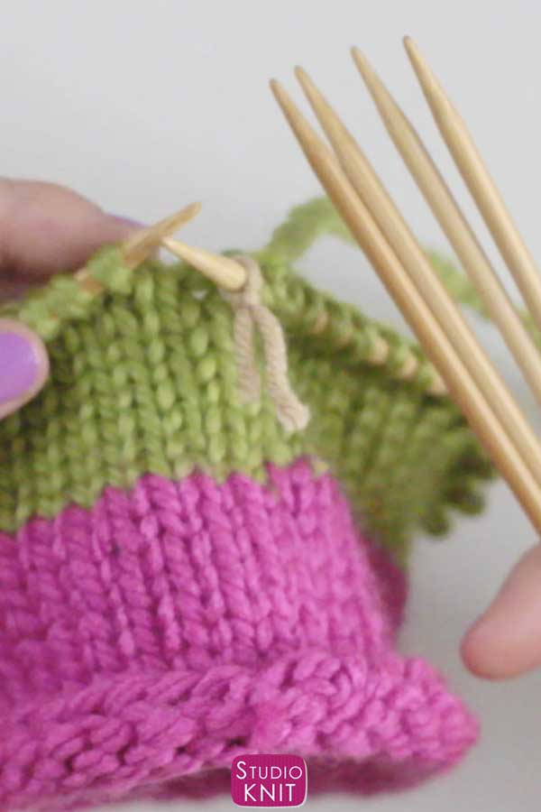 Switch to Double Pointed Needles with Studio Knit