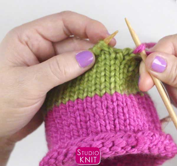 Making the Switch to Double Pointed Needles with Studio Knit