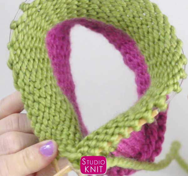 Switch from Circular to Double Pointed Needles with Studio Knit