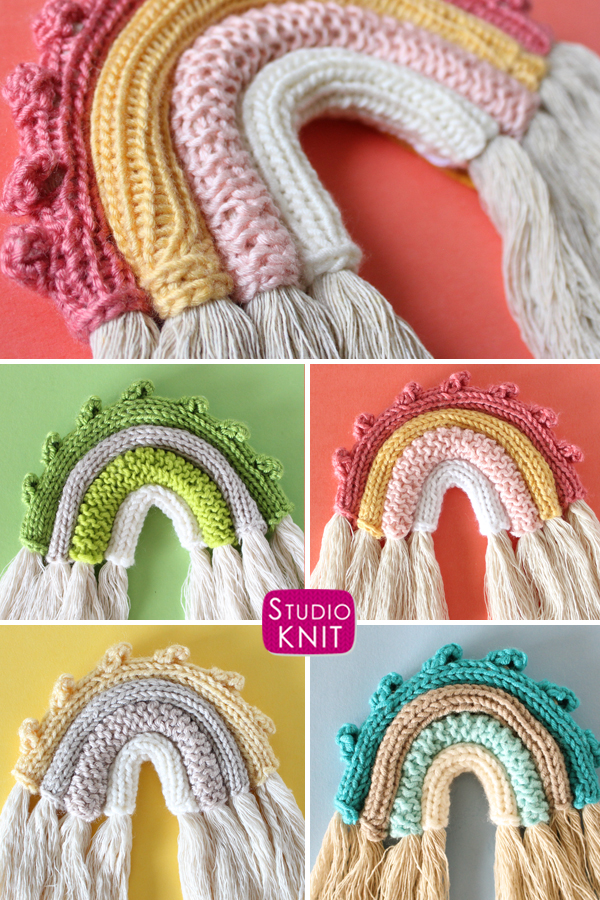 Boho Rainbow Wall Hanging by Studio Knit