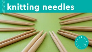 sets of wooden bamboo knitting needles