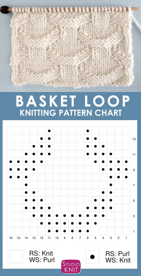 Basket Loop Stitch Knitting Chart