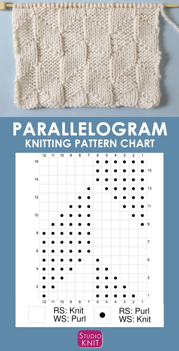 Parallelogram Stitch Knitting Chart