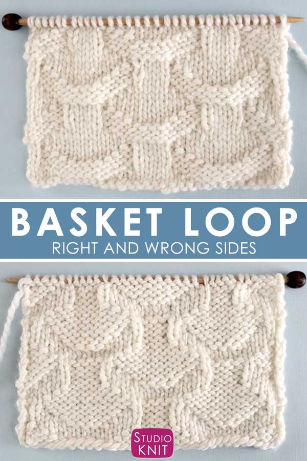 Basket Loop Stitch Knitting Pattern Right and Wrong Sides