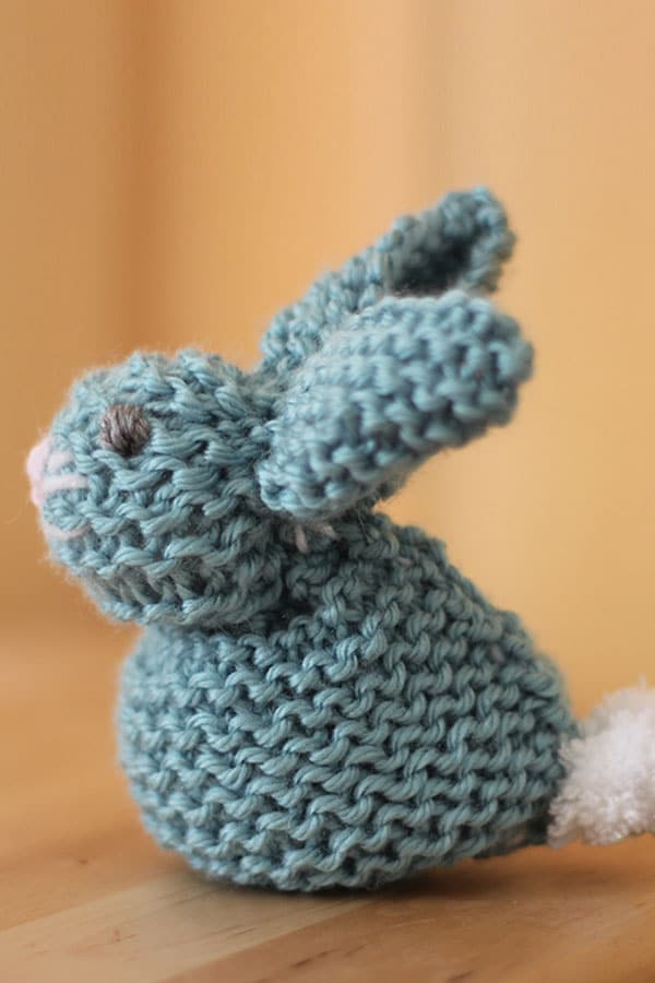 Knit a Bunny from a Square