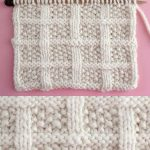 Lattice Seed Stitch Knitting Pattern