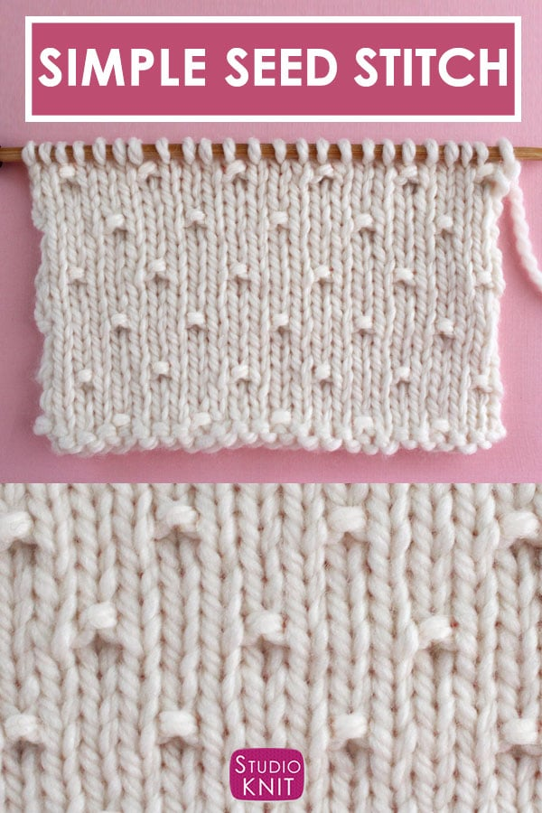Simple Seed Stitch knitting pattern