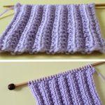 Seeded Rib Stitch Knitting Pattern
