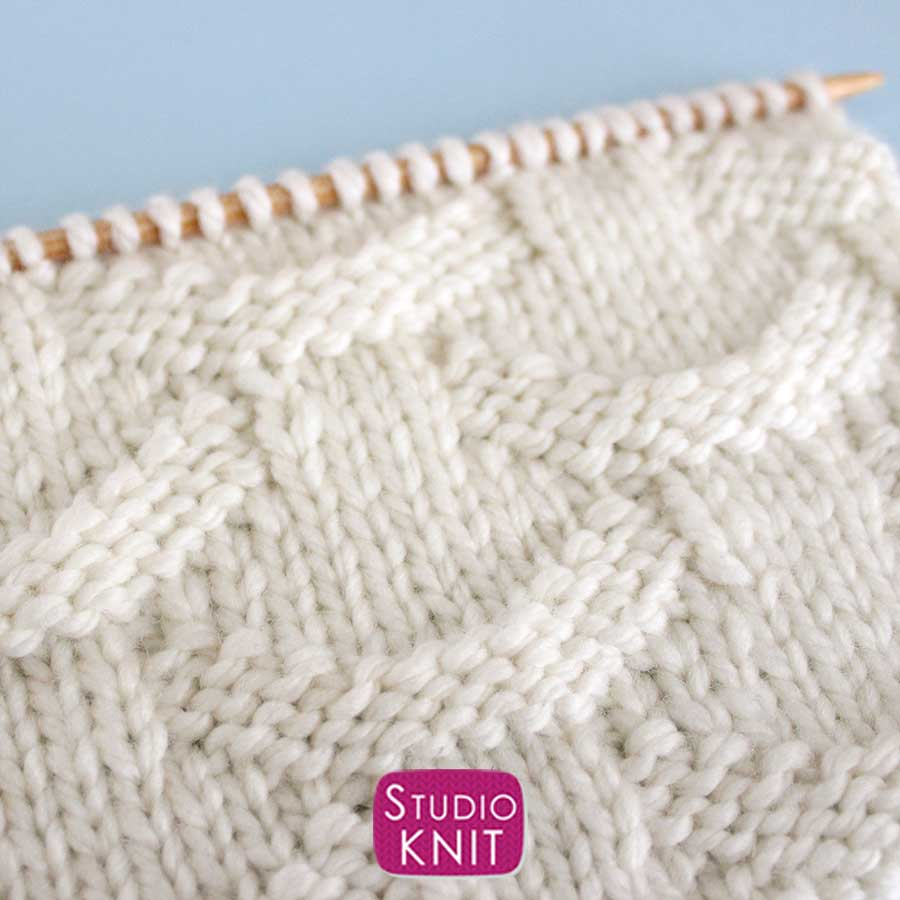 Basket Loop Stitch Knitting Pattern Close-Up