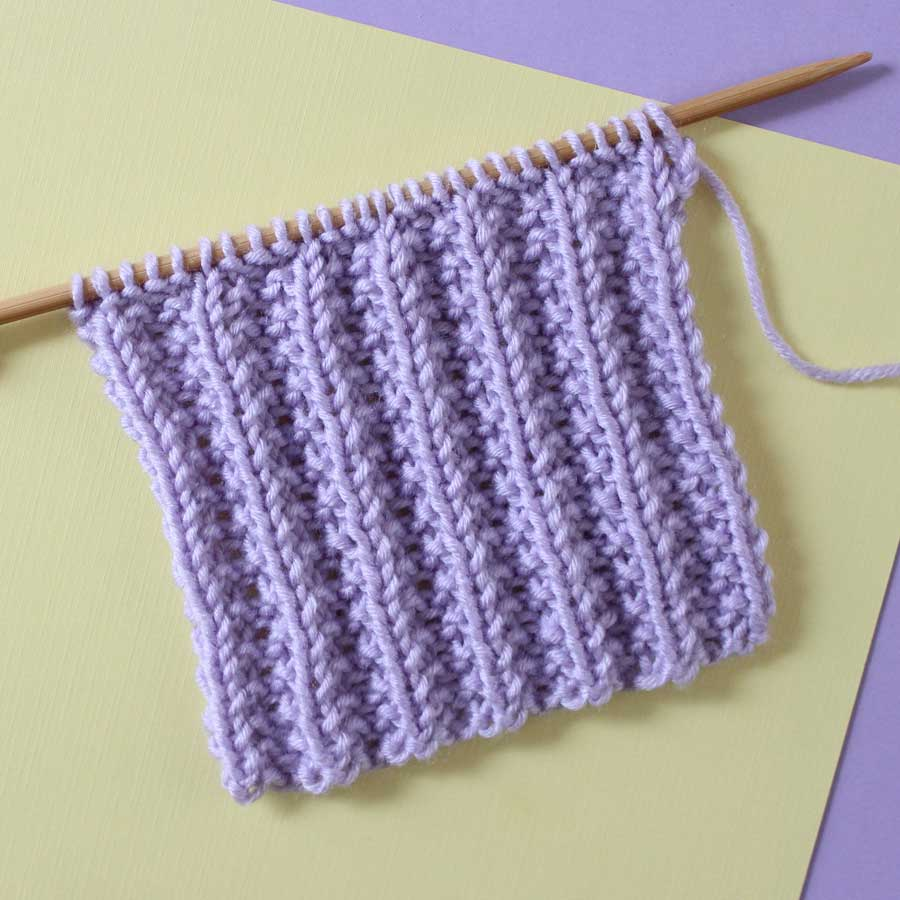 Seeded Rib Stitch Pattern