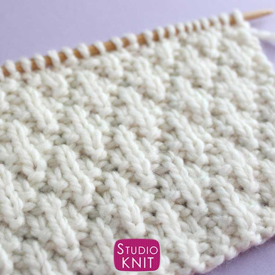 Seersucker Stitch Knitting Pattern Close Up