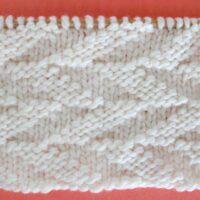 Cut Diagonals Stitch Printable Knitting Pattern