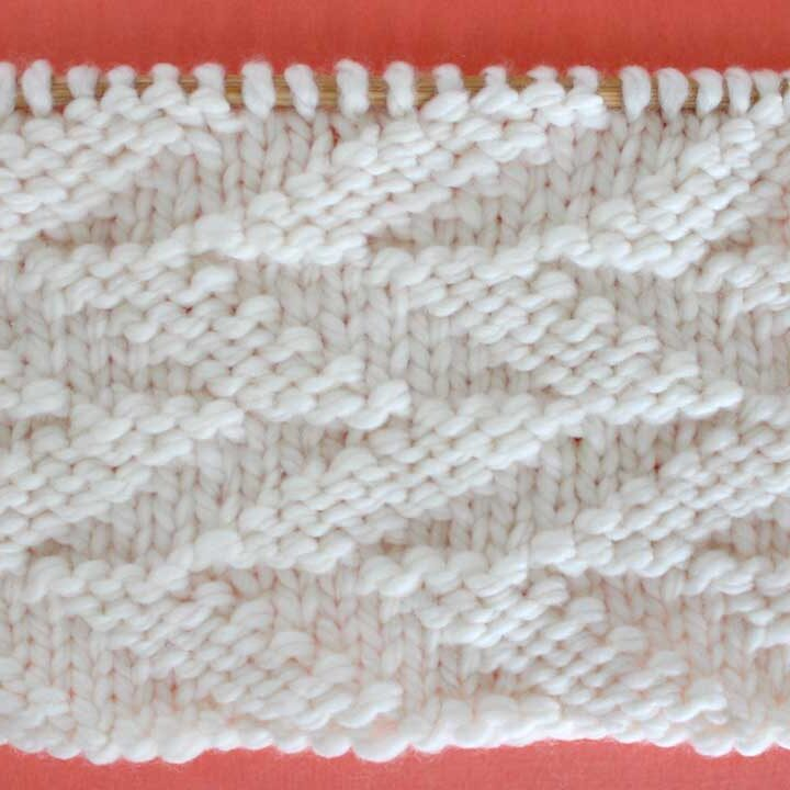 Cut Diagonals Stitch Knitting Pattern