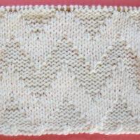 Wide Chevron Zigzag Stitch Printable Knitting Pattern