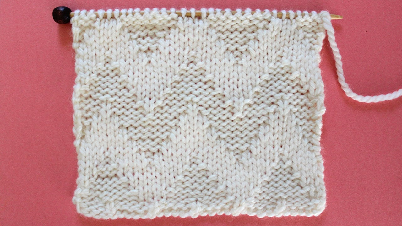 Wide Chevron Zigzag Stitch Knitting Pattern for Beginners