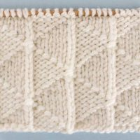 Pennant Pleating Stitch Printable Knitting Pattern