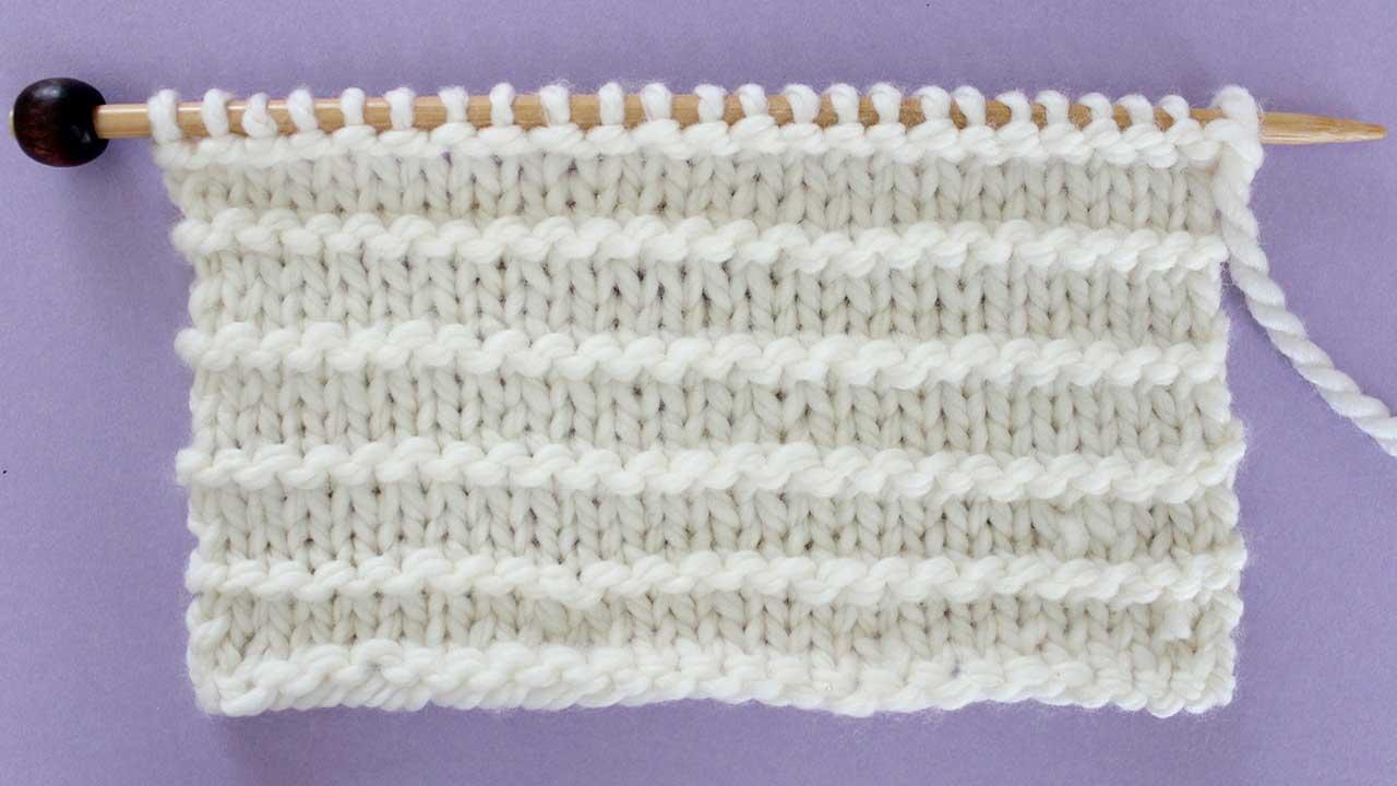 Purl Ridge Stitch Knitting Pattern Studio Knit