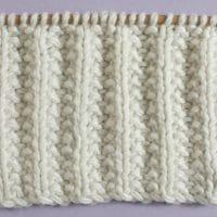 Seeded Rib Stitch Printable Knitting Pattern