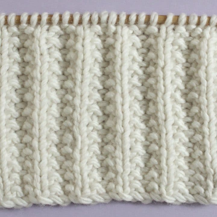 Seeded Rib Stitch Printable Knitting Pattern