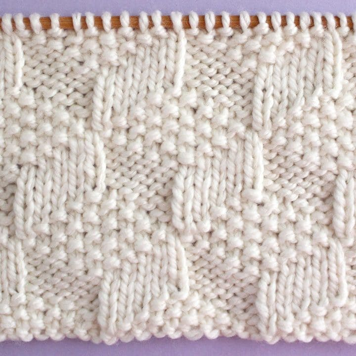 Tumbling Moss Blocks Stitch Knitting Pattern