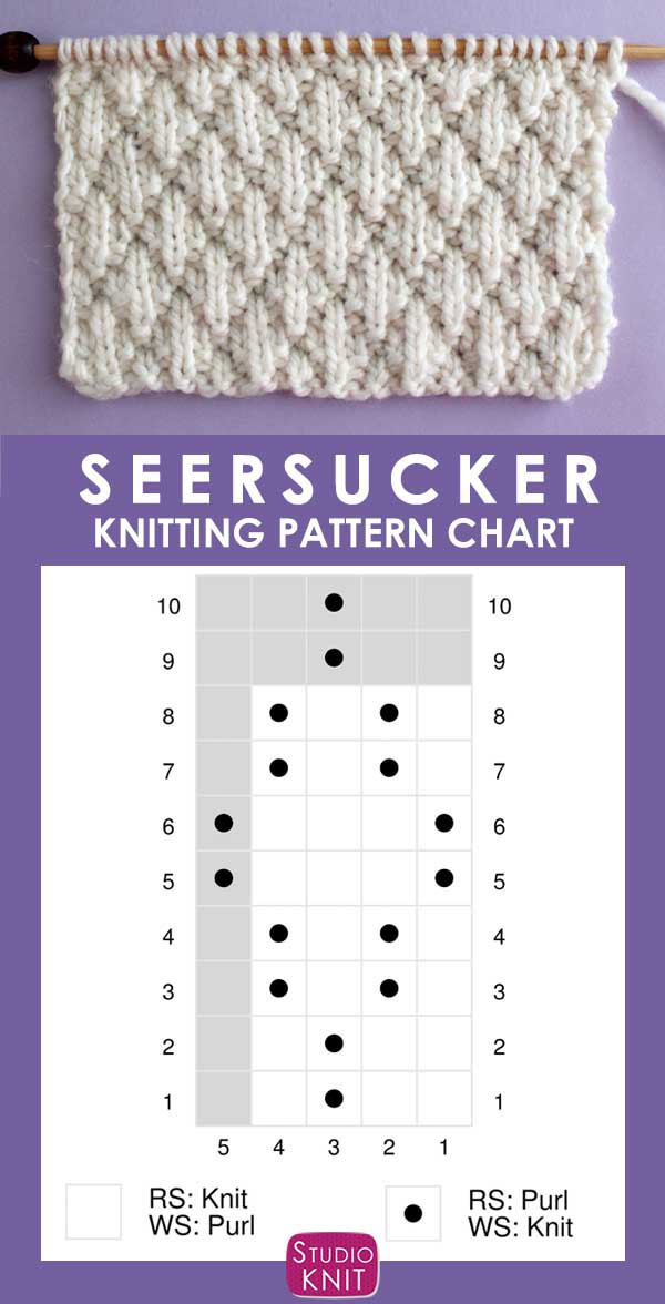 graphic relating to Knitting Needle Size Chart Printable called Seersucker Sch (Knitting Routine) Studio Knit