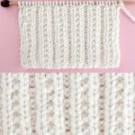 Beaded Rib Stitch Knitting Pattern