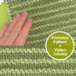Purl Ridge Stitch Knitting Pattern