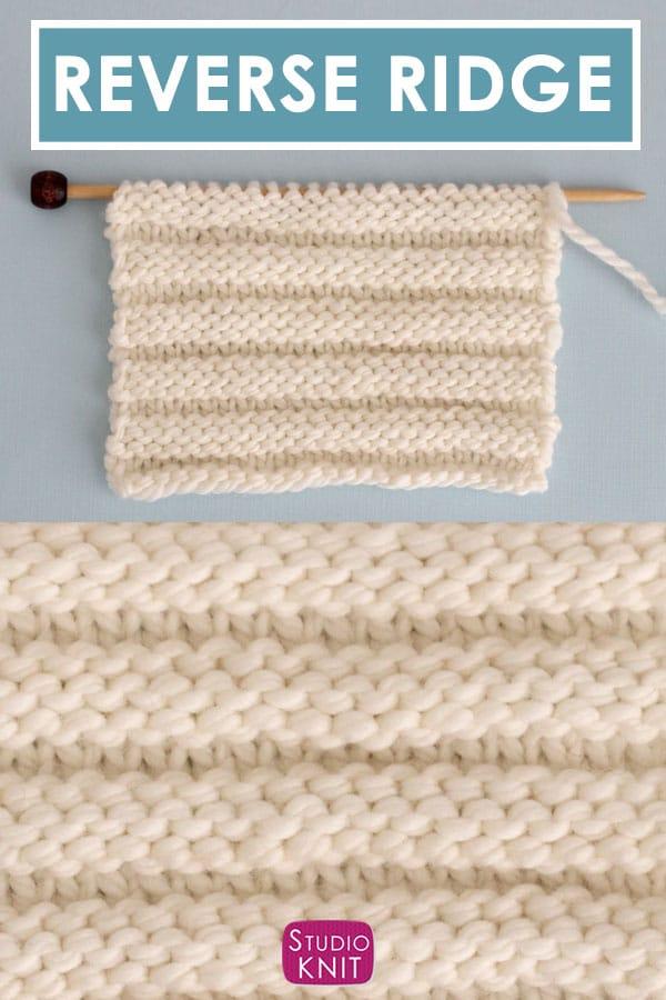 Reverse Ridge Stitch Knitting Pattern