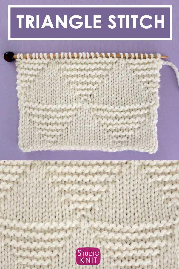 Large Stacked Triangle Stitch Knitting Pattern