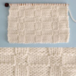 Wide Basketweave Stitch Knitting Pattern