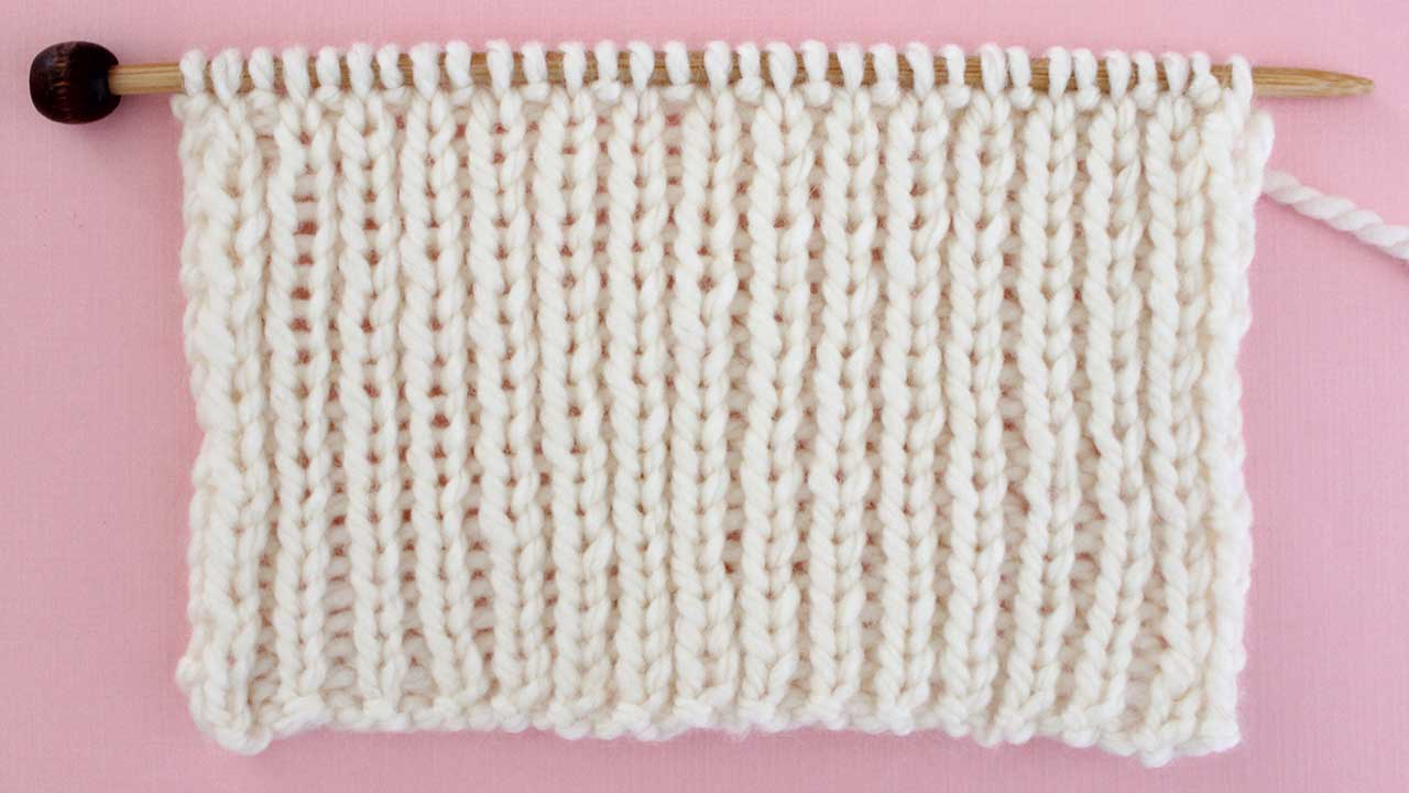 1x1 Rib Stitch Knitting Pattern