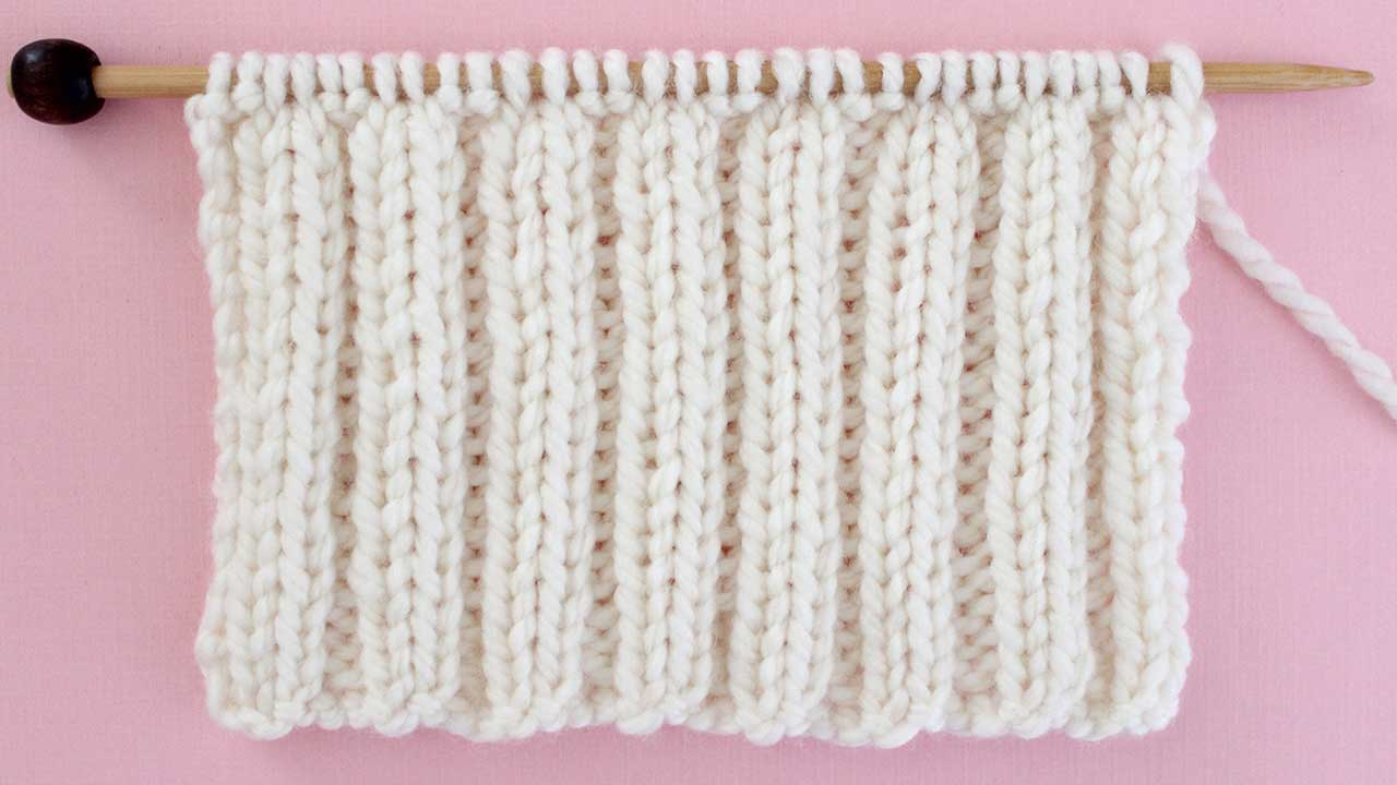 2x2 Rib Stitch Knitting Pattern