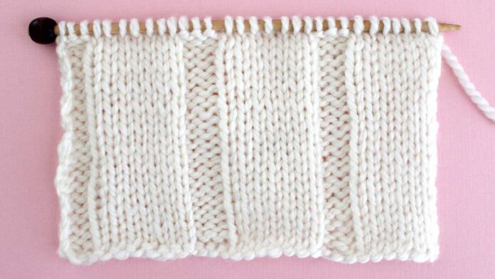 7x3 Flat Rib Stitch Knitting Pattern